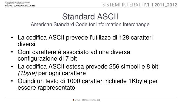 Standard ASCII
