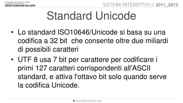 Standard Unicode