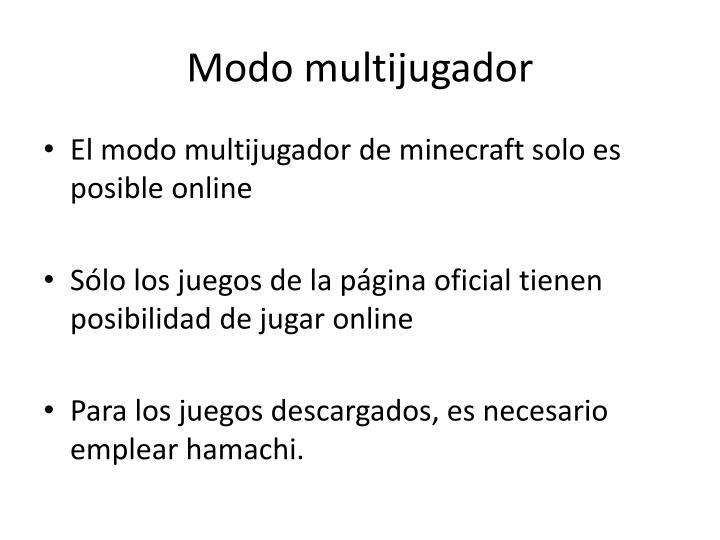 Modo multijugador