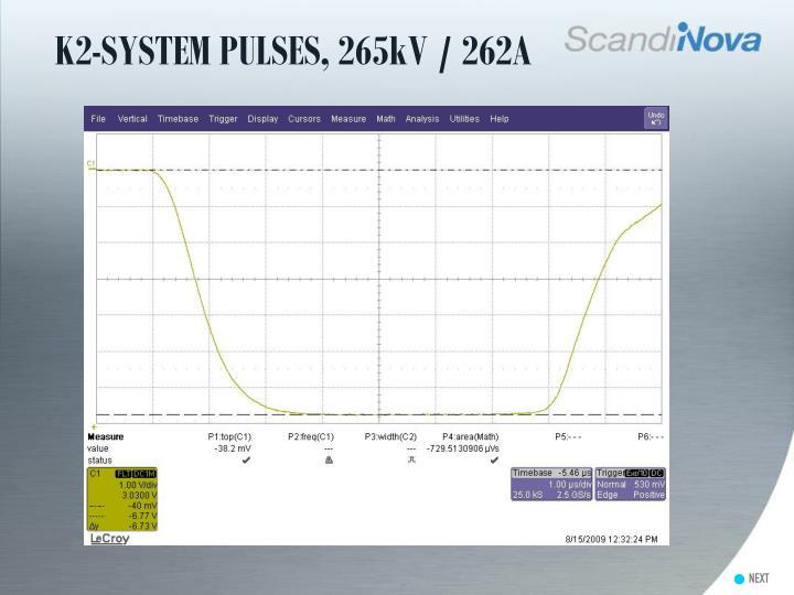 K2-SYSTEM PULSES, 265kV / 262A