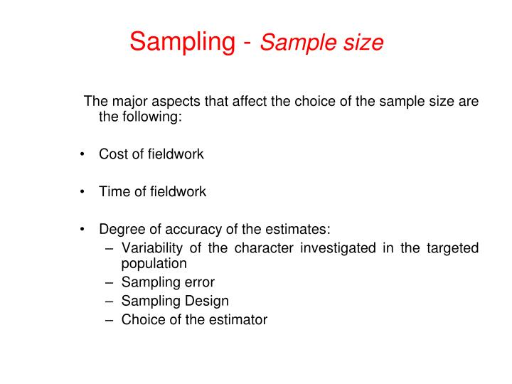 Sampling -