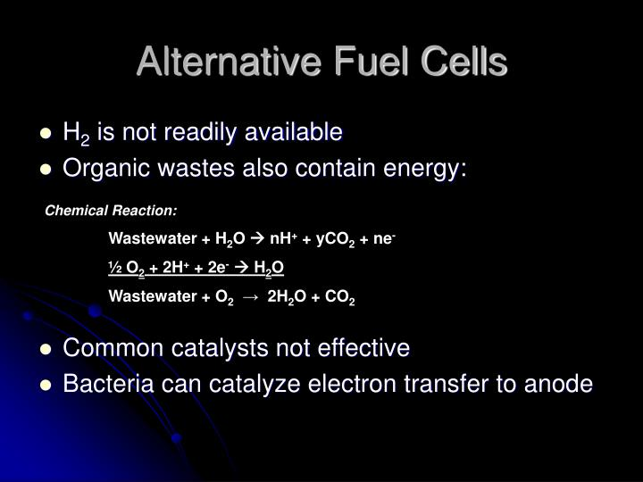 Alternative Fuel Cells