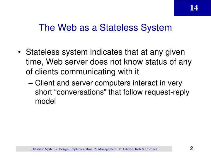 The Web as a Stateless System
