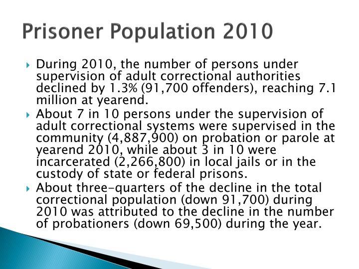 Prisoner Population 2010