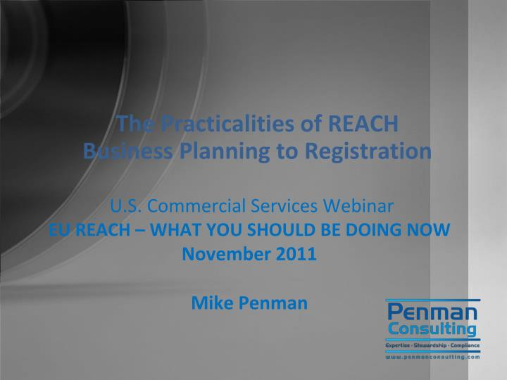 U s commercial services webinar eu reach what you should be doing now november 2011 mike penman