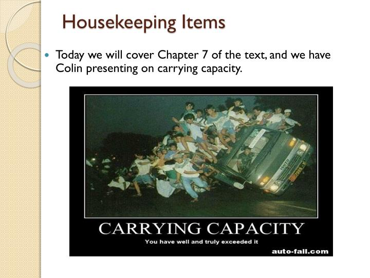 Housekeeping items1