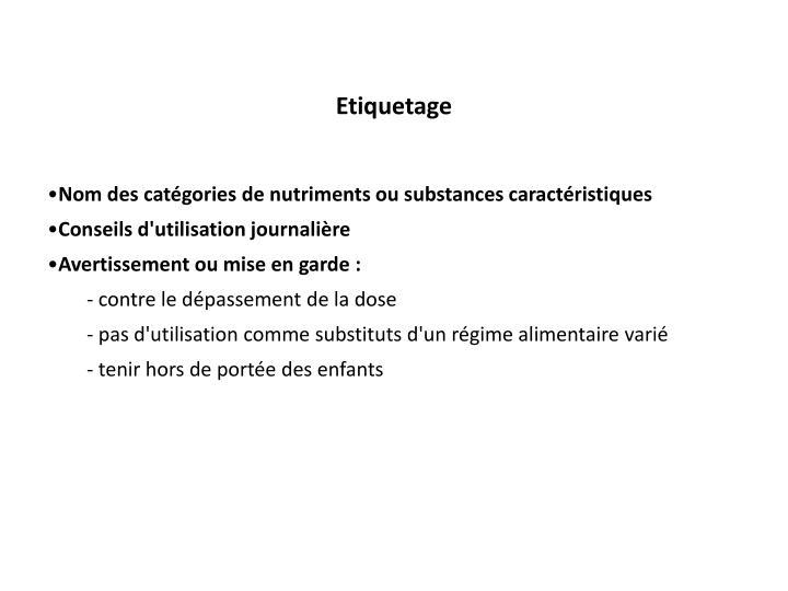 Etiquetage