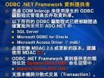 odbc net framework