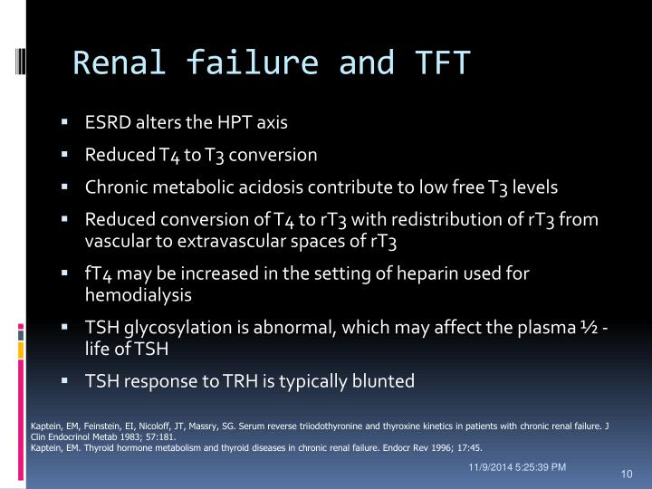 Renal failure and TFT