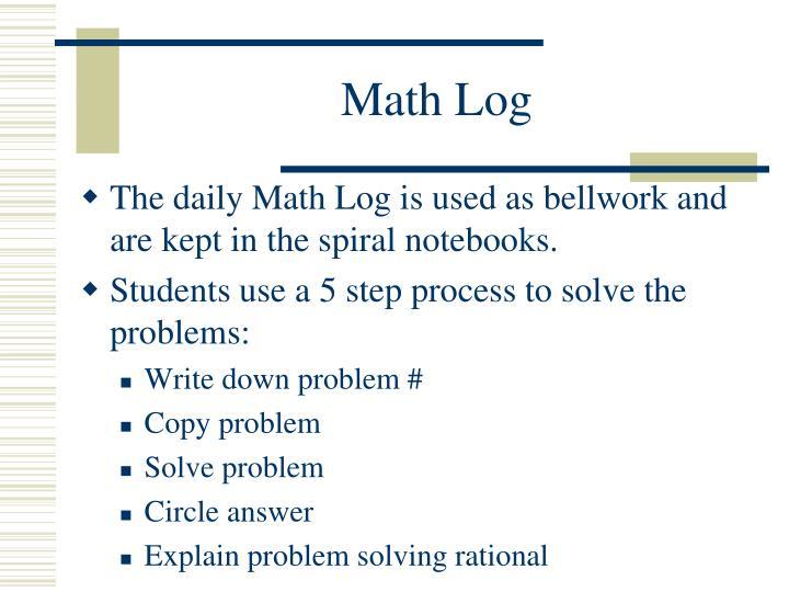 Math Log