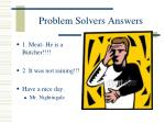 problem solvers answers
