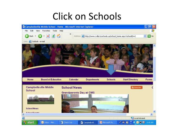 Click on Schools