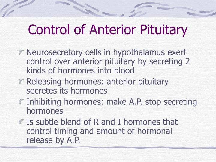 Control of Anterior Pituitary