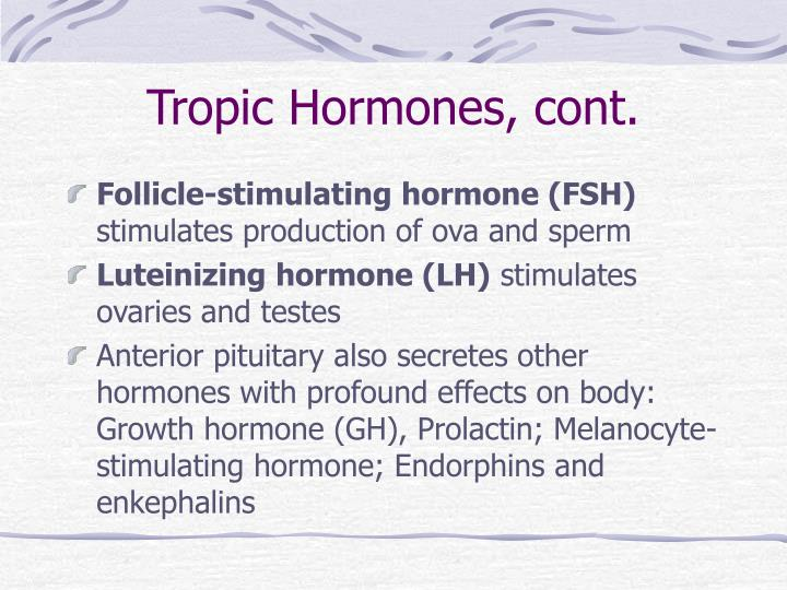 Tropic Hormones, cont.