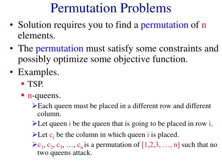 Permutation Problems
