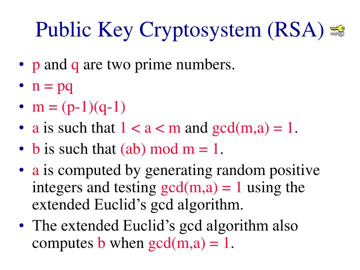 Public Key Cryptosystem (RSA)