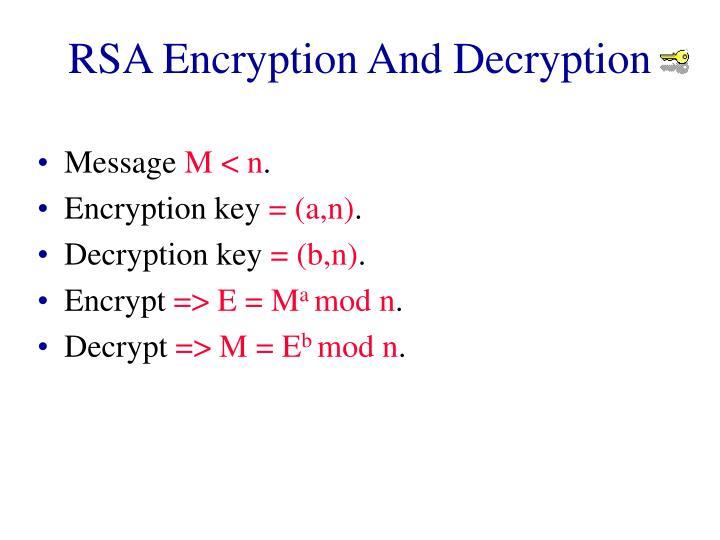 RSA Encryption And Decryption