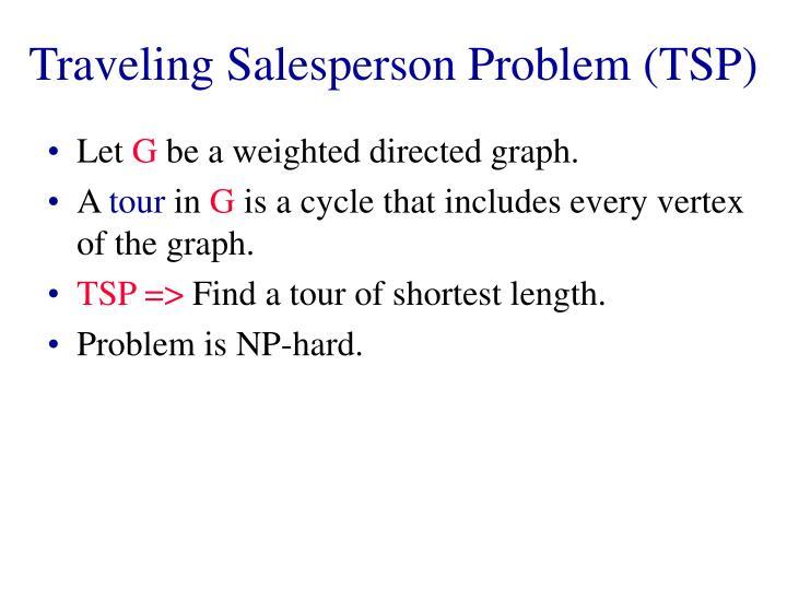 Traveling Salesperson Problem (TSP)