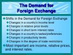the demand for foreign exchange2
