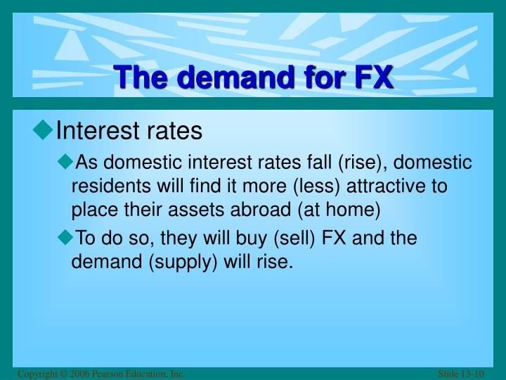 The demand for FX