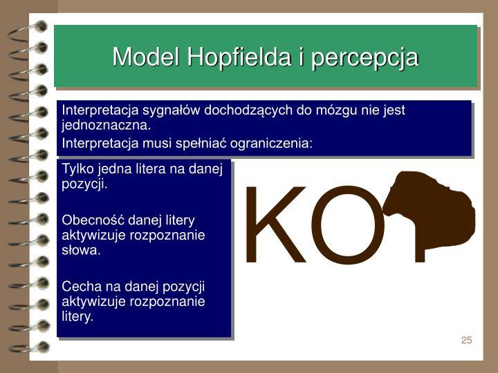 Model Hopfielda i percepcja