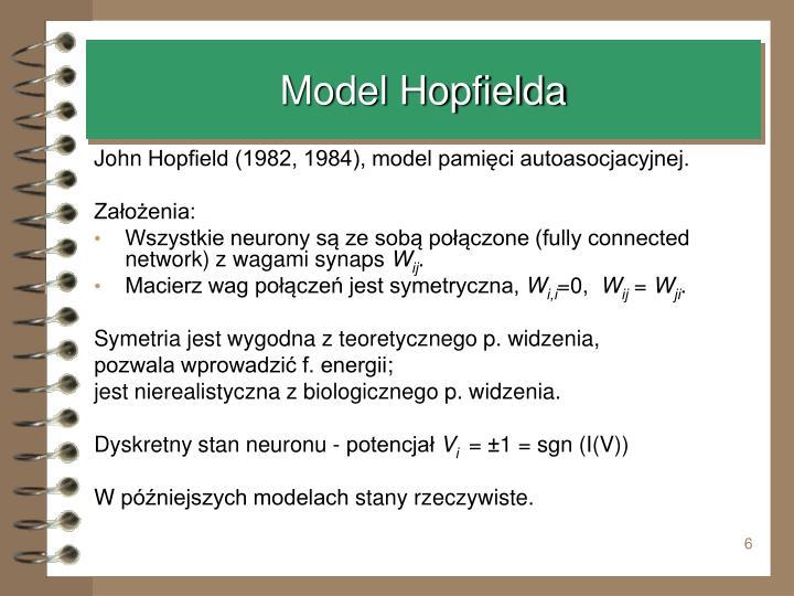Model Hopfielda