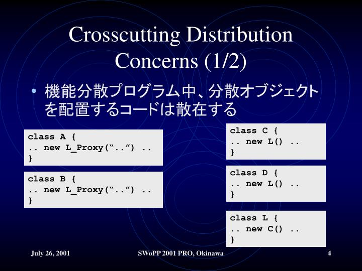 Crosscutting Distribution Concerns (1/2)