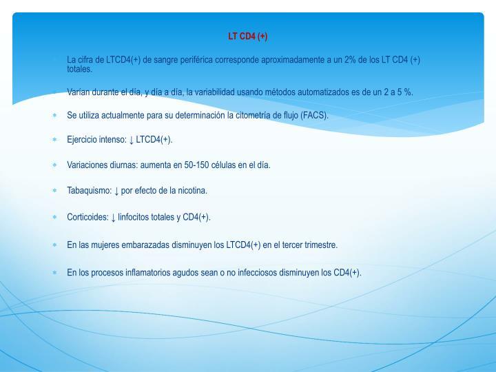 LT CD4 (+)