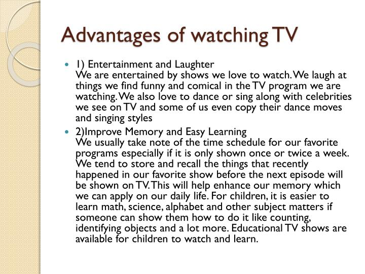 argumentative essay television watching Watching tv is bad for children (argumentative essay) - download as word doc (doc / docx), pdf file (pdf), text file (txt) or read online (argumentative essay.