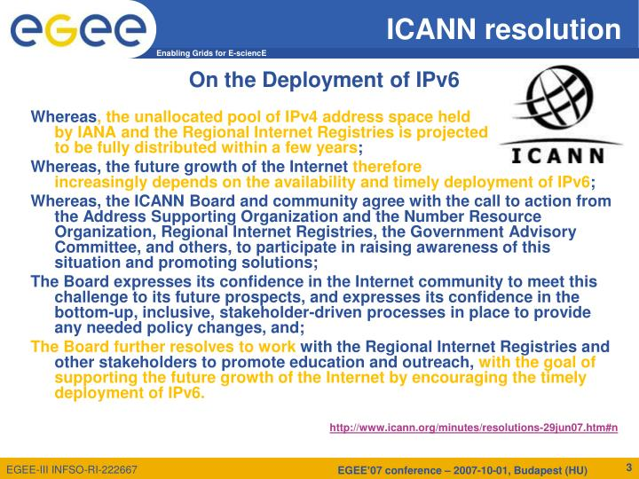 ICANN resolution