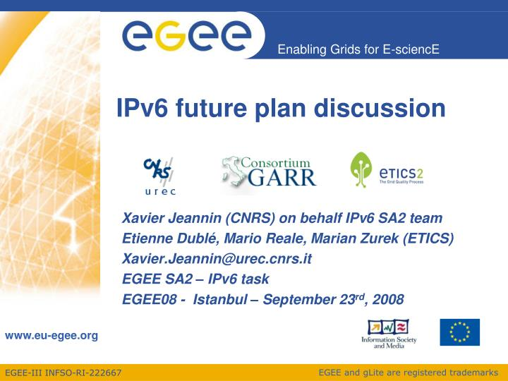 Ipv6 future plan discussion