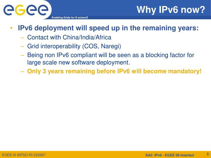 Why IPv6 now?