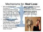 mechanisms for heat loss