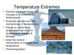 temperature extremes