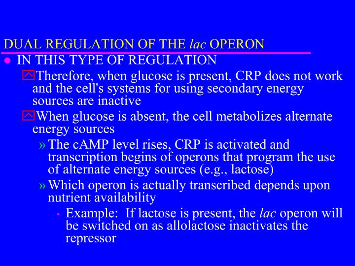DUAL REGULATION OF THE