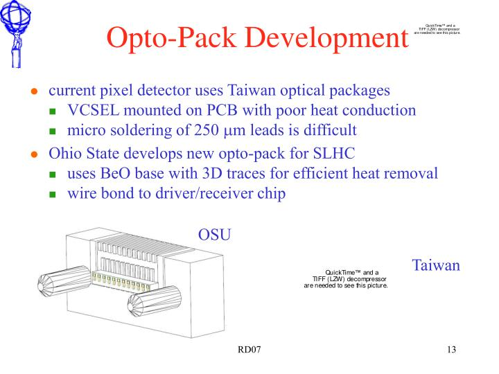 Opto-Pack Development