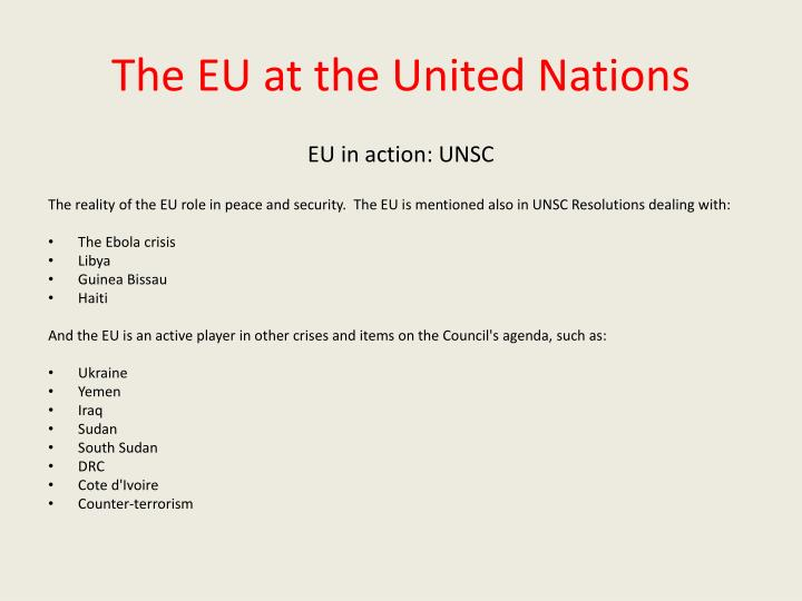 The EU at the United Nations
