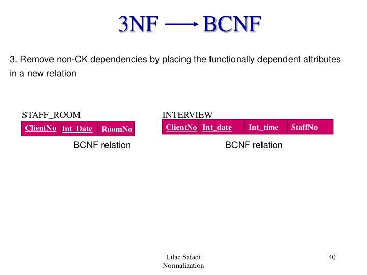 3NF        BCNF