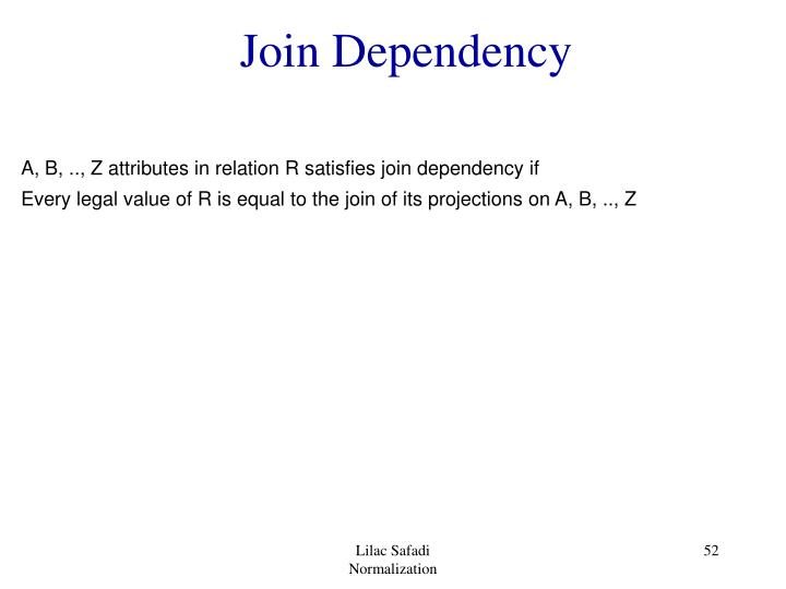 Join Dependency