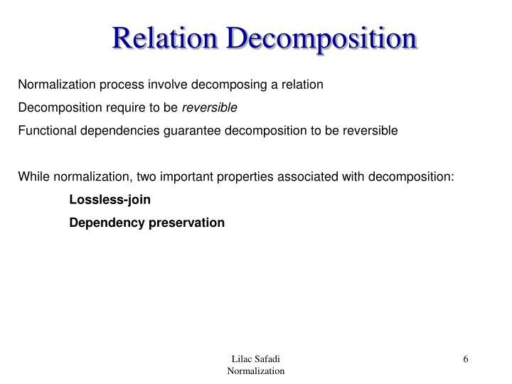 Relation Decomposition