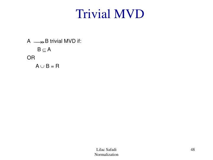 Trivial MVD