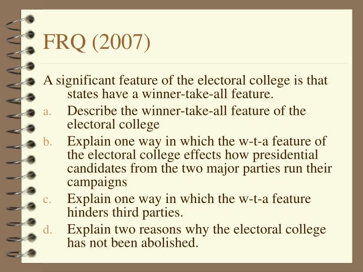 FRQ (2007)