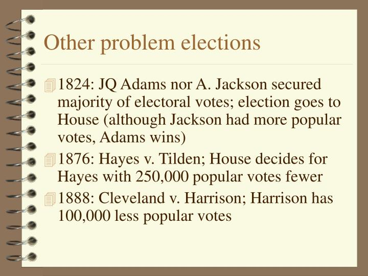 Other problem elections