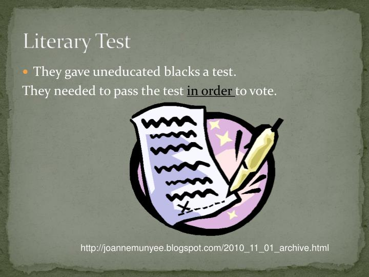 Literary Test