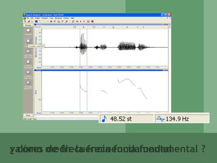 ¿ cómo medir la frecuencia fundamental ?