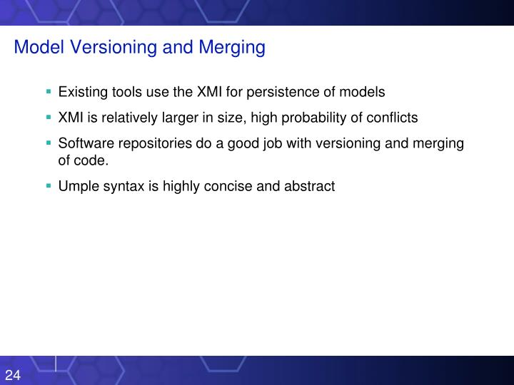 Model Versioning and Merging
