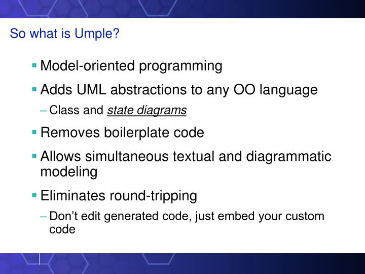 So what is Umple?