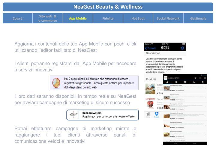 Aggiorna i contenuti delle tue App Mobile con pochi click utilizzando l'editor facilitato di NeaGest