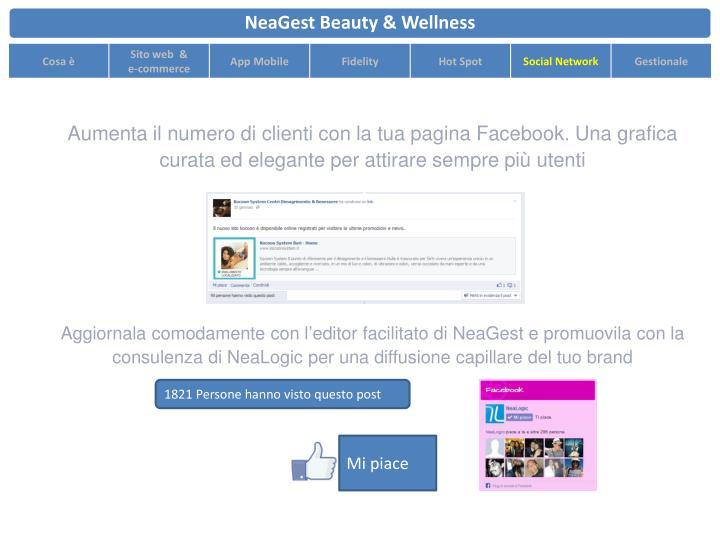 Aumenta il numero di clienti con la tua pagina Facebook. Una grafica curata ed elegante per attirare sempre più utenti