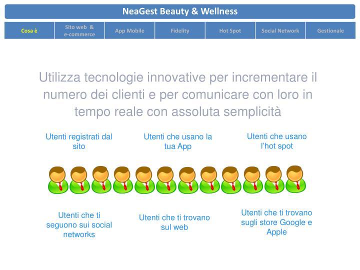 Utilizza tecnologie innovative per incrementare il numero dei clienti e per comunicare con loro in tempo reale con assoluta semplicità
